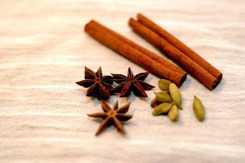 star anise, cardamom, cinnamon