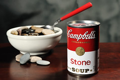 Stone Soup (Theresa Thompson) Tags: campbells share stonesoup mmmmmmgood homeworkassignment lakemichiganrocks