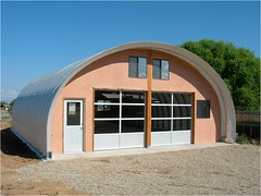 Steel Garage with Custom Front