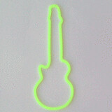 Shaped rubber bands: guitar greenish yellow