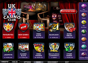 UK Casino Club Lobby