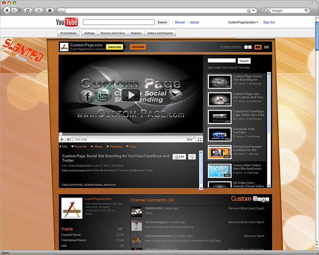 Slanted Free YouTube Background Template Perfect for YouTube Channels that