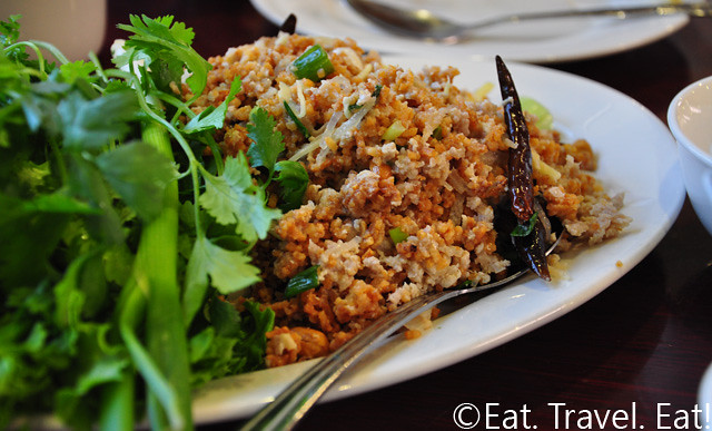 Nam Sod with Crispy Rice 1