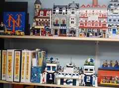 LEGO Area October 2, 2010 #4 (notenoughbricks) Tags: lego greengrocer legomocs citycorner cafecorner legocollection legodisplay legodesk legoworkspace legovideogamemosaics legoinstructionbooklets legocollectibleminifiguresdisplay