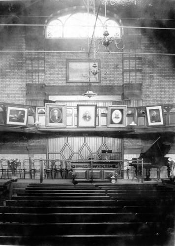 Leicester Secular Hall interior. Photograph courtesy of Leicester Secular Society