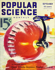 Popular Science -Sept 1933 -Queer Vehicles Issue