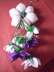 chaveiro hexagono lado xadrez...encomenda (eco-arte) Tags: flores flor feltro locksmith chaveiro xadrez retalho reaproveitamento floreslilás chaveirohexagono chaveirocomseispétalas floresroxo