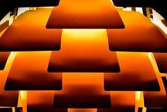 Orange Sizzles (paulgalbraith) Tags: light orange abstract hotel lobby gradient parkplaza lampshade tiers countyhall lightshade