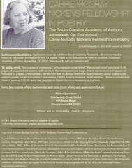 Carrie McCray Nickens Fellowship in Poetry