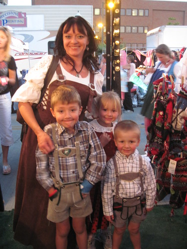 Happy Family in Alpen Scahtz Outfits by Alpen Schatz - Mary Dawn DeBriae