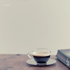a quiet moment ({cindy}) Tags: coffee canon square book still 50mm14 explore textures negativespace espresso frontpage flypaper