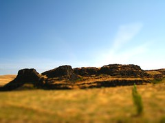 Washington view - fake tilt shift (ianjacobs) Tags: statepark camping usa oregon washington fake mini thedalles minature washingtonusa horsethieflake diaroma faketiltshift phototrickery horsethieflakestatepark tiltshiftmaker