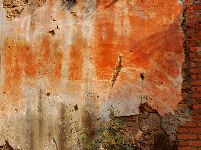 Faded wall