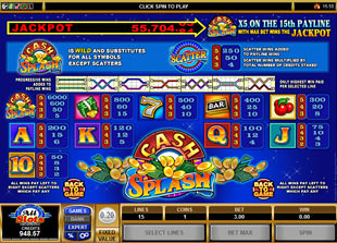 free Cash Splash 5-Reels slot mini symbol