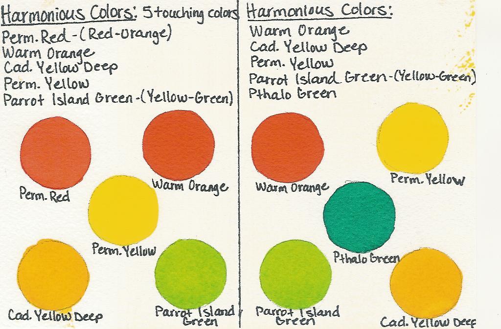 Harmonious Color Chart