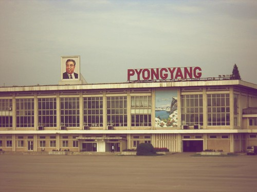 pyongyang north korea map. view large. Sunan Airport in