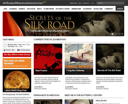 Preview the new HMNS web site!