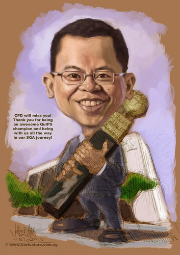 digital caricature for Ministry of Manpower - 2 small