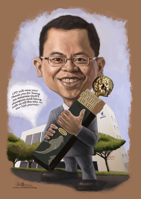 digital caricature for Ministry of Manpower