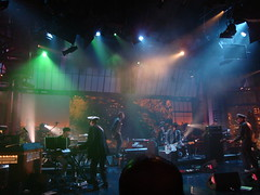 Damon Albarn & Gorillaz crew (kate_soundcheck) Tags: nyc ny newyork live lateshow gorillaz clinteastwood davidletterman lateshowwithdavidletterman edsullivantheater plasticbeach empireants escapetotheplasticbeach