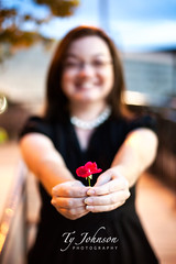 Beth (Ty Johnson Photography) Tags: flowers red people black flower smile canon happy 50mm virginia necklace dress beth richmond f18 rva canon5dmarkii