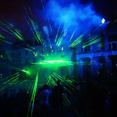 2015 (saul gm) Tags: people españa public night lights luces noche spain gente gijón asturias laser público asturies espectáculo xixón espectacle universidadlaboral