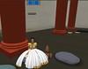 Meritaten enjoys refreshments in a columned hall in virutal Amarna (Akhetaten) (mharrsch) Tags: ancient columns egypt 18thdynasty nefertiti akhenaten virtualworld meritaten amarna virtualenvironment mharrsch akhetaten heritagekey