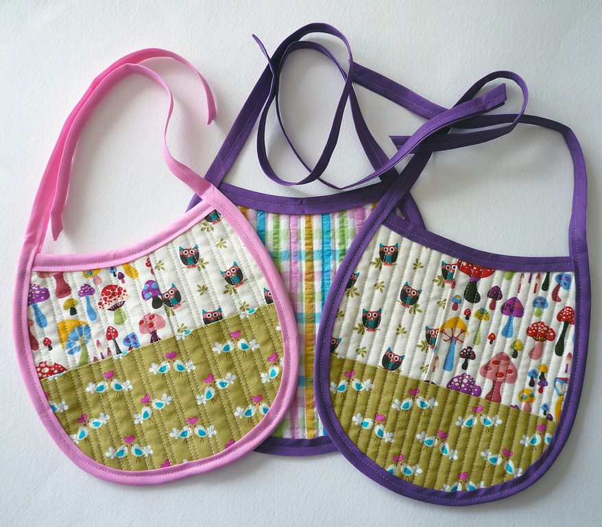 Home Ec Lesson #9: Quilted Patchwork Baby Bibs