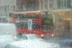 London street in the rain