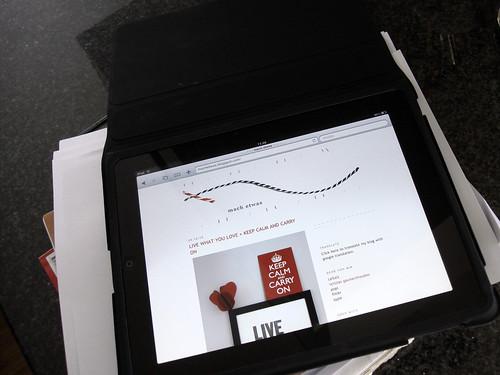 Sigis iPad und mein Blog