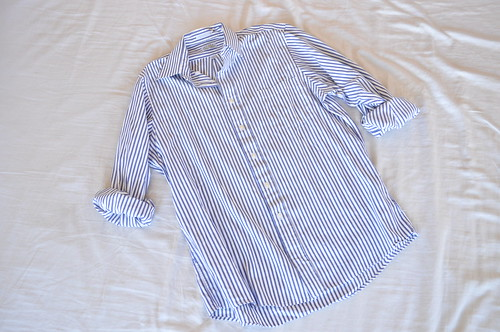 vintage vertical striped mens shirt