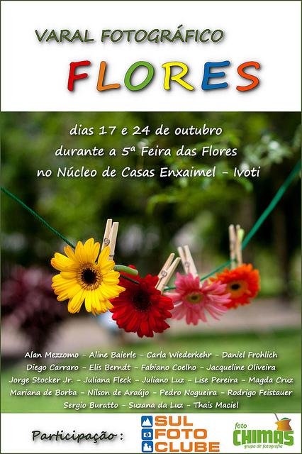 Varal Fotográfico Flores