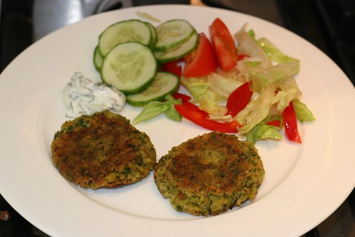 broad bean fritters