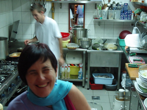 Behind the scene in restaurant Kantina, Pula