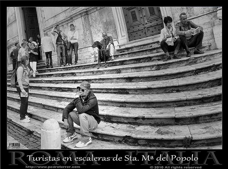 Roma - Escalinata Santa María del Popolo