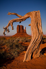 Monumental Stump (rich.perron) Tags: light sunset red arizona usa sun mountains monument nature rock canon landscape photography photo sand glow desert dunes scenic vivid sunny valley stump monumentvalley overlook fiery 5dmarkii