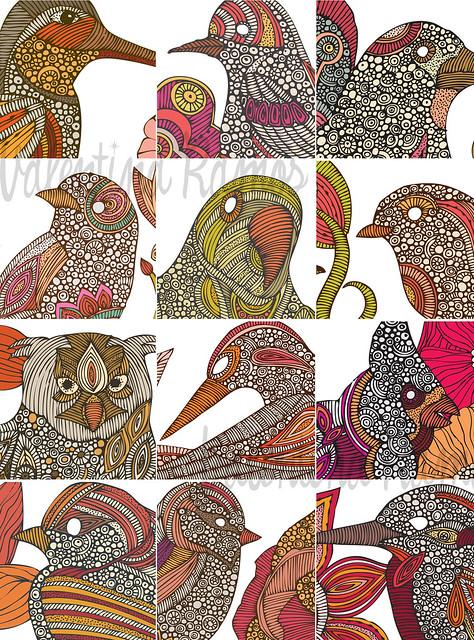12 birds ~ 1 calendar