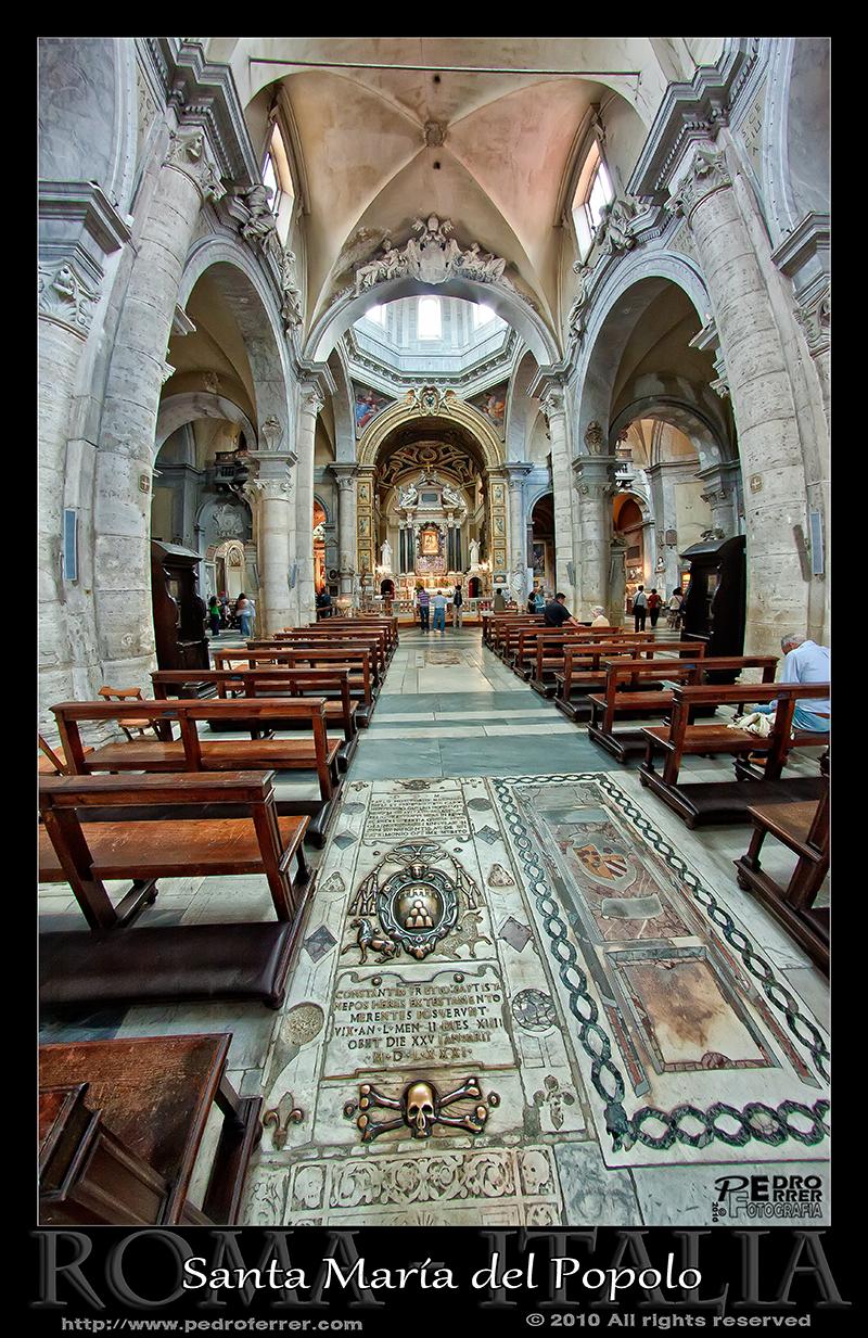 Roma - Basilica de Santa Maria del Popolo - Detalle suelo