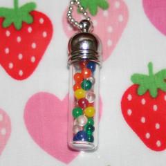 Rainbow Ball Pitt Mayhem Glass Vial Pendant (Strawberry Anarchy) Tags: glass fun rainbow unique balls jewelry sweets mayhem pendant candyjar boiledsweets strawberryanarchy ballpitt jarofcandies