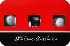 Welcome aboard!! (itslour) Tags: windows cute plane toy japanese flight kawaii octopus asleep manju onsenmanjukun takochu