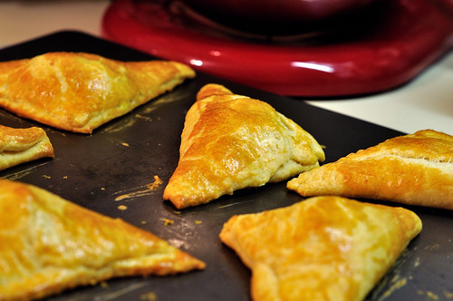 Tomato Basil Mozzarella and Pear Turnovers