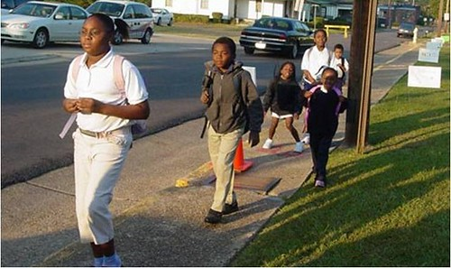 Walk to School Day in Columbus, MA (by: International Walk to School Day)