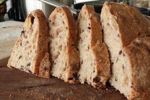 Rebanadas de pan cortadas