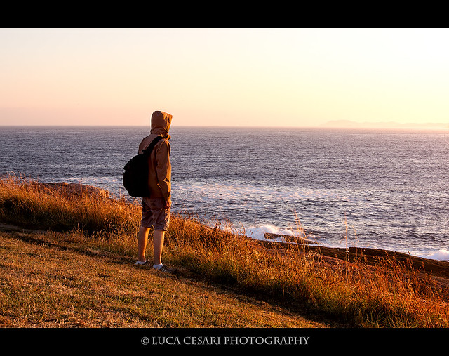 Staring at the rising sun [ @A Coruña, selfportrait]