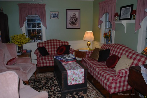 Living room of Christmas Farm Inn & Spa