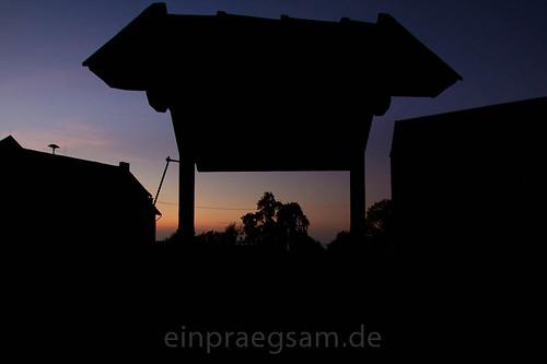 Fotografie - letztes Tageslicht auf Burg Lohra