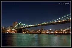 Brooklyn Bridge (Veevake) Tags: nyc longexposure bridge newyork brooklyn nikon colorful nightshot manhattan slowshutterspeed d90 18200mmvr veevake imagehallucinations