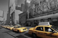 New York Cabs (dcylam) Tags: newyork taxi yellowcab theatredistrict newyorktaxi