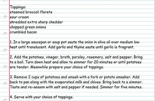 Baked Potato soup recipe 2