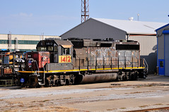 Welcome Home SP 7659! (The Mastadon) Tags: road old railroad chicago train la illinois rust midwest gm sad pacific diesel rail railway dirty testing il southern transportation locomotive pathetic grange chicagoland douchebag flatlander scuzzy midwestern emd gp402